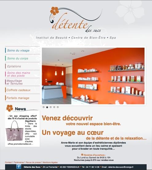 site internet salon de beauté