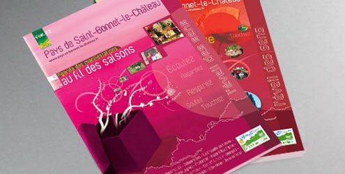 Charte graphique de guides touristiques pour un office de - Office de tourisme saint bonnet le chateau ...