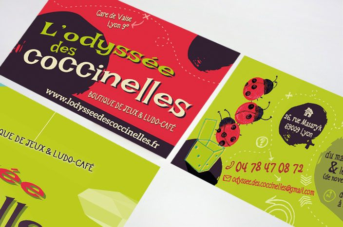 carte de visite et flyer