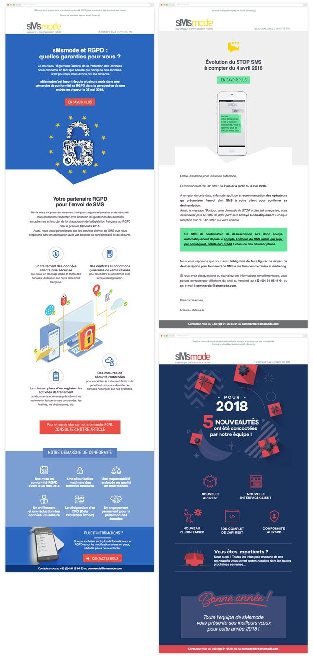 conception de newsletter et emailing