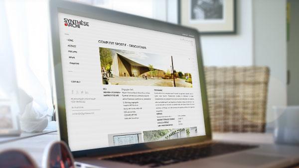 conception graphique site internet architecte