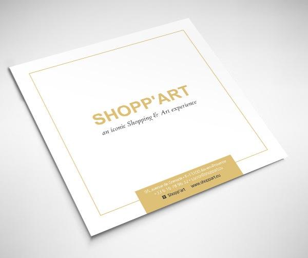 plaquette luxe pour Shopp'art