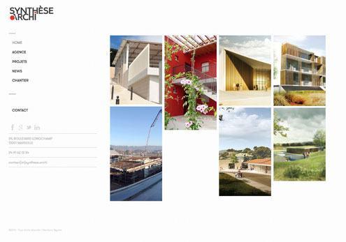 webdeisgn de site web pour cabinet d'architecture