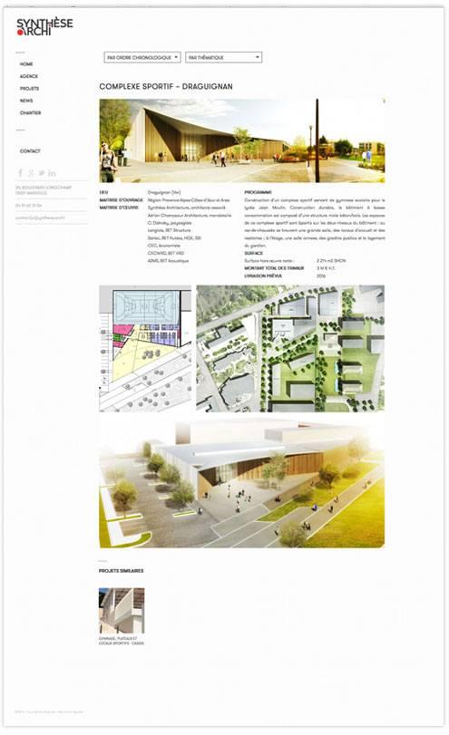 webdesign de fiches projet
