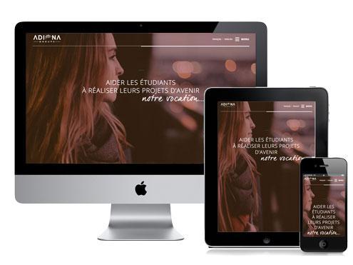 webdesign et intégration pour site internet de groupe