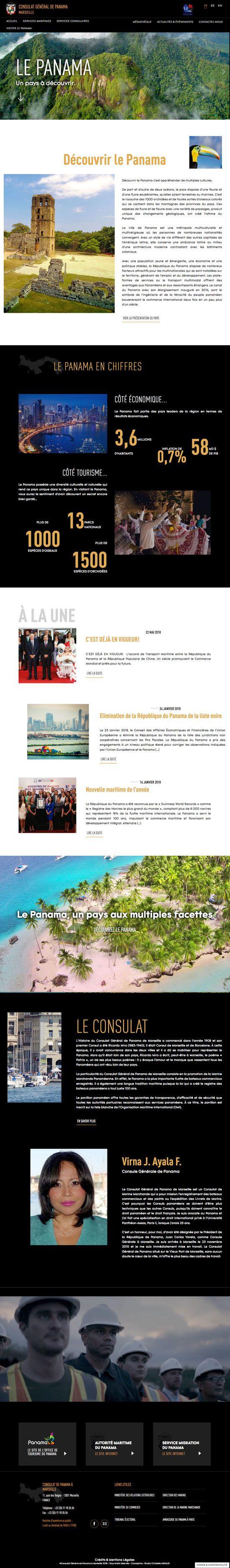 webdesign de home page de site institutionnel