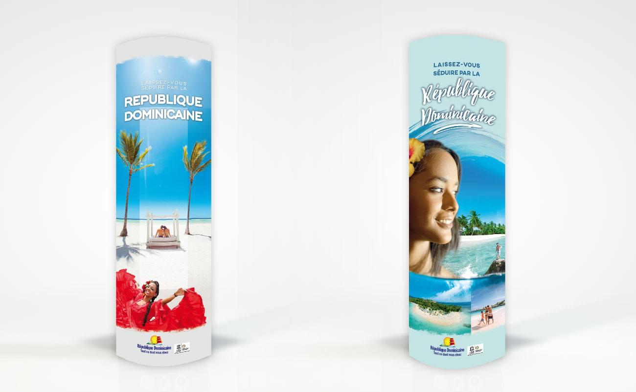 conception de PLV de promotion touristique