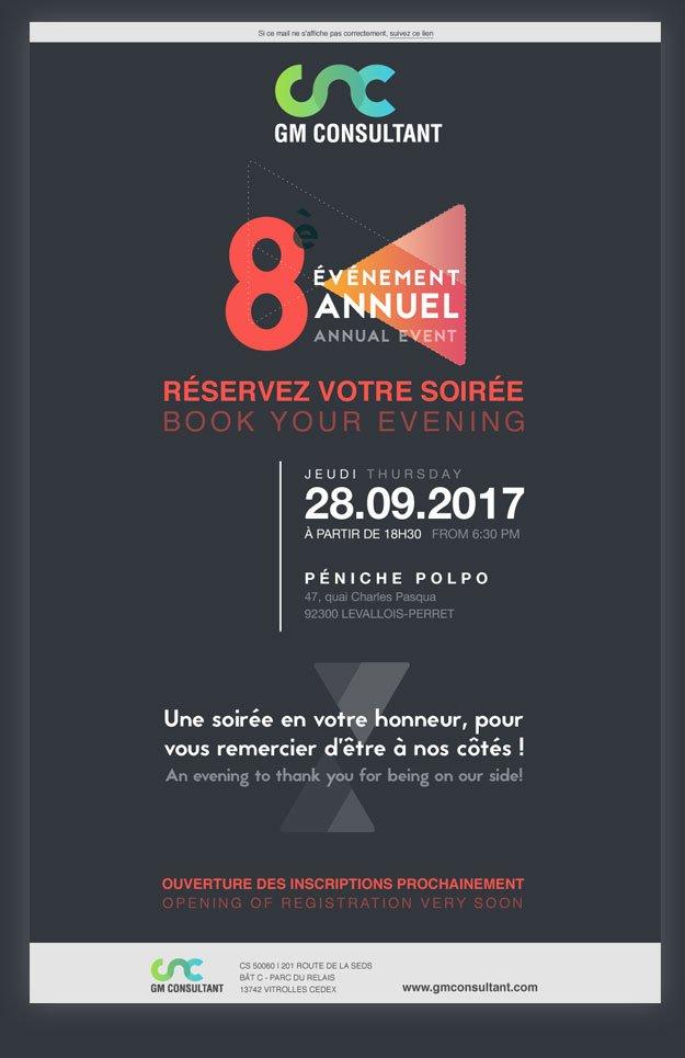 newsletter pour invitation pour un événement