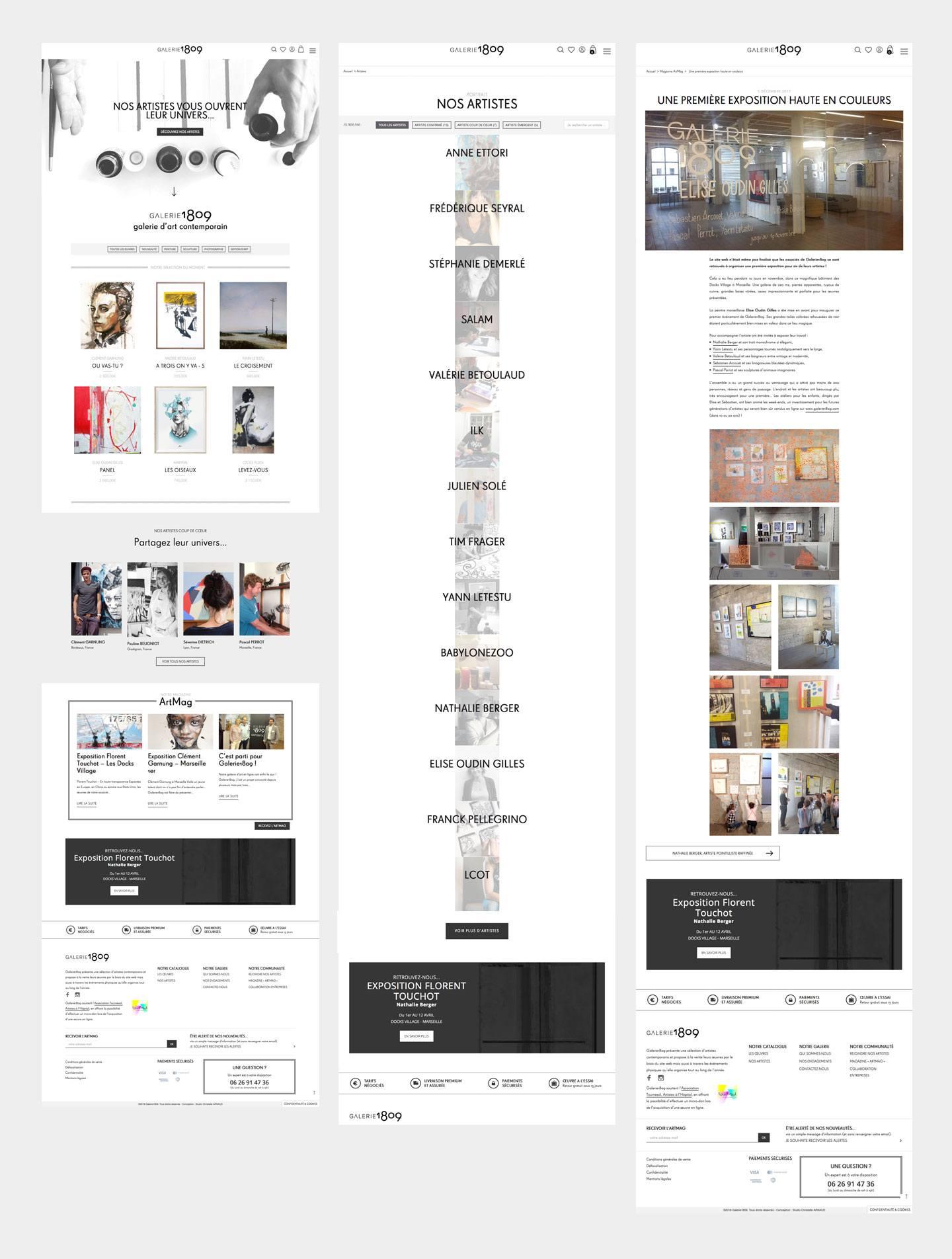 conception graphique et développement d'une e-boutique en ligne